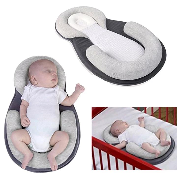 Multifunction Baby Crib Travel Sleep Pillow Newborn Anti Rollover Safety Cushion Baby Sleep Positioning Pad Portable Folding Bed Baby Travel Bed Portable Baby Bed Portable Baby Cribs