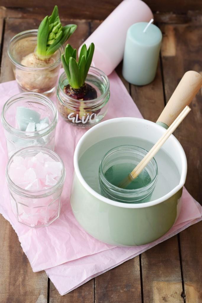 DIY: Hyazinthen in Wachs – Frühlingsdeko in Pastell #frühlingblumen