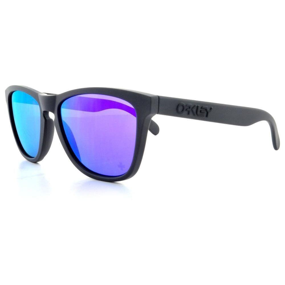 Oakley Frogskins Carbon Lens Violet Iridium Sonnenbrille Schwarz QzE3AkZ