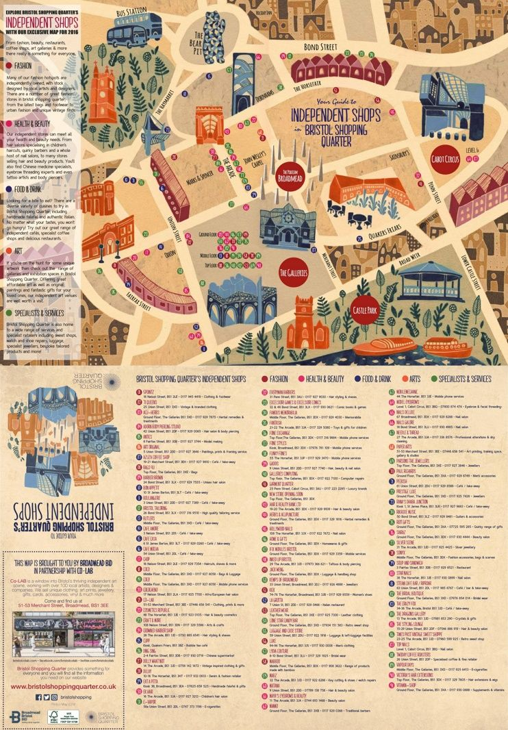 Bristol shopping map Maps Pinterest Bristol and City