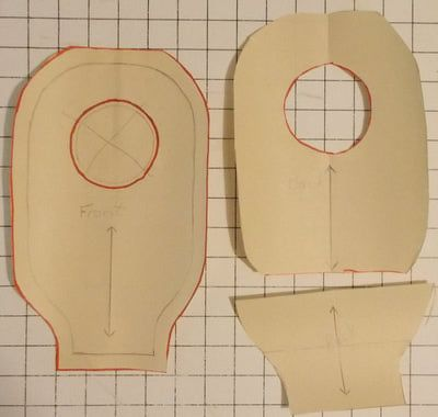 Step by step instructions to make a custom ostomy pouch cover pattern
