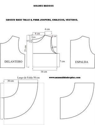 Girls Dress pattern layout