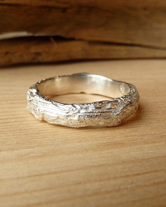 Wide Branch Band Sterling Silver Wedding Ideas Pinterest