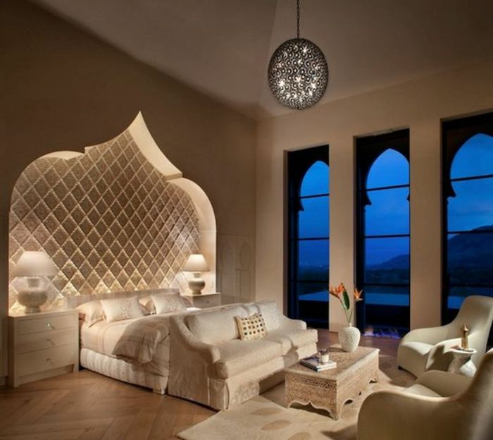 orientalische stoffe gro e fenster lampen bett design weises schlafzimmer lampen luxusdesign. Black Bedroom Furniture Sets. Home Design Ideas