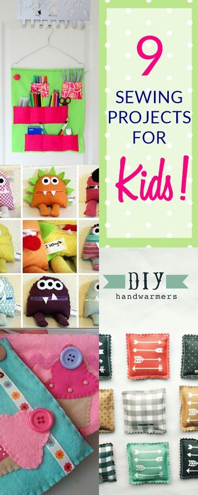 9 BEST and SIMPLEST Beginner's Sewing Projects (Kids