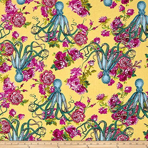 TokyoMilk for Freespirit Neptune /& the Mermaid Floral Vintage 100/% Cotton Fabric