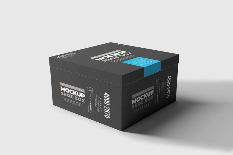 Download 23 Shoe Box Mockup Design Templates Square More Texty Cafe Box Mockup Box Design Templates Simple Business Cards