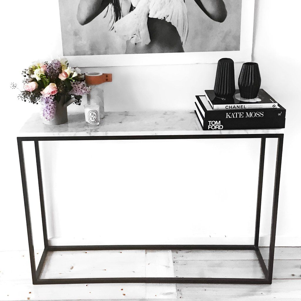 Carrara Marble Entrance Table Large