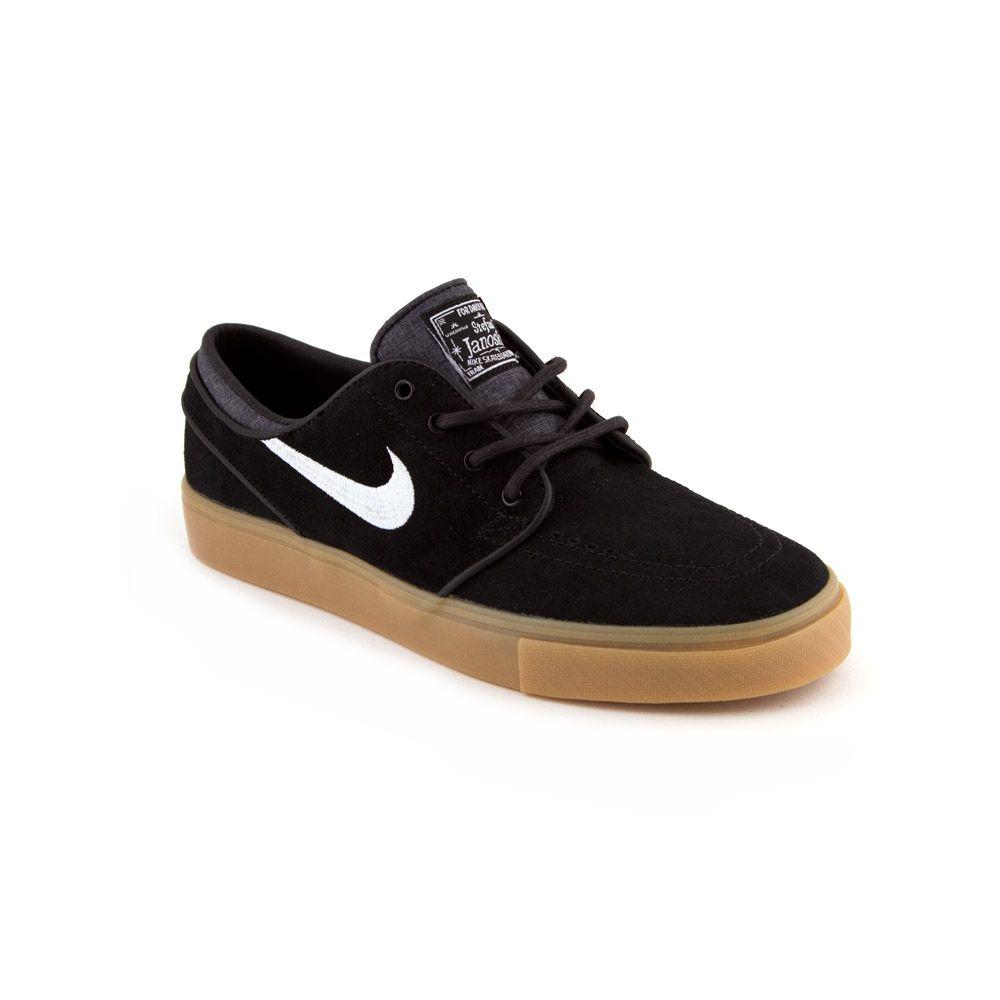 Nike Sb Stefan Janoski Black White Gum Light Brown Fier Skateshop Dordrecht Janoski Black Nike Nike Sb