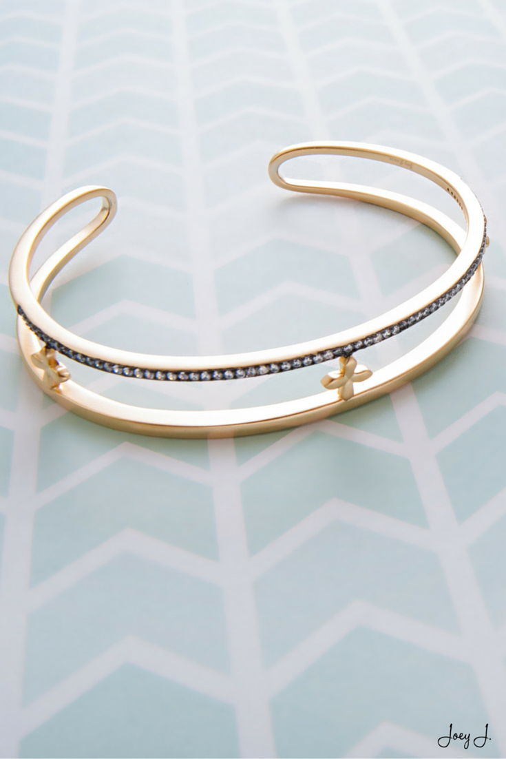 The perfect golden cuff. #jewelry #cross