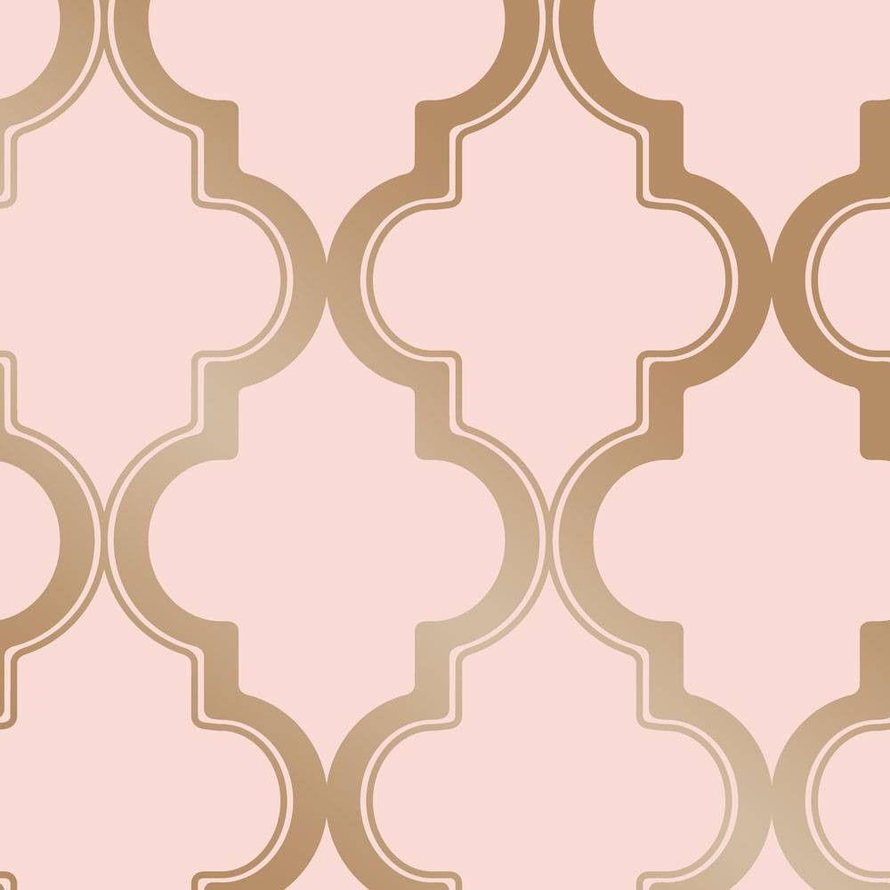 Tempaper Marrakesh Self Adhesive Removable Wallpaper Pink Gold Wallpaper Peel And Stick Wallpaper Removable Wallpaper