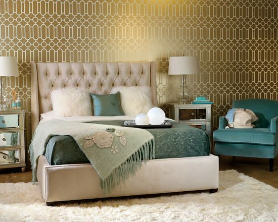Superbe Hollywood Regency Bedroom