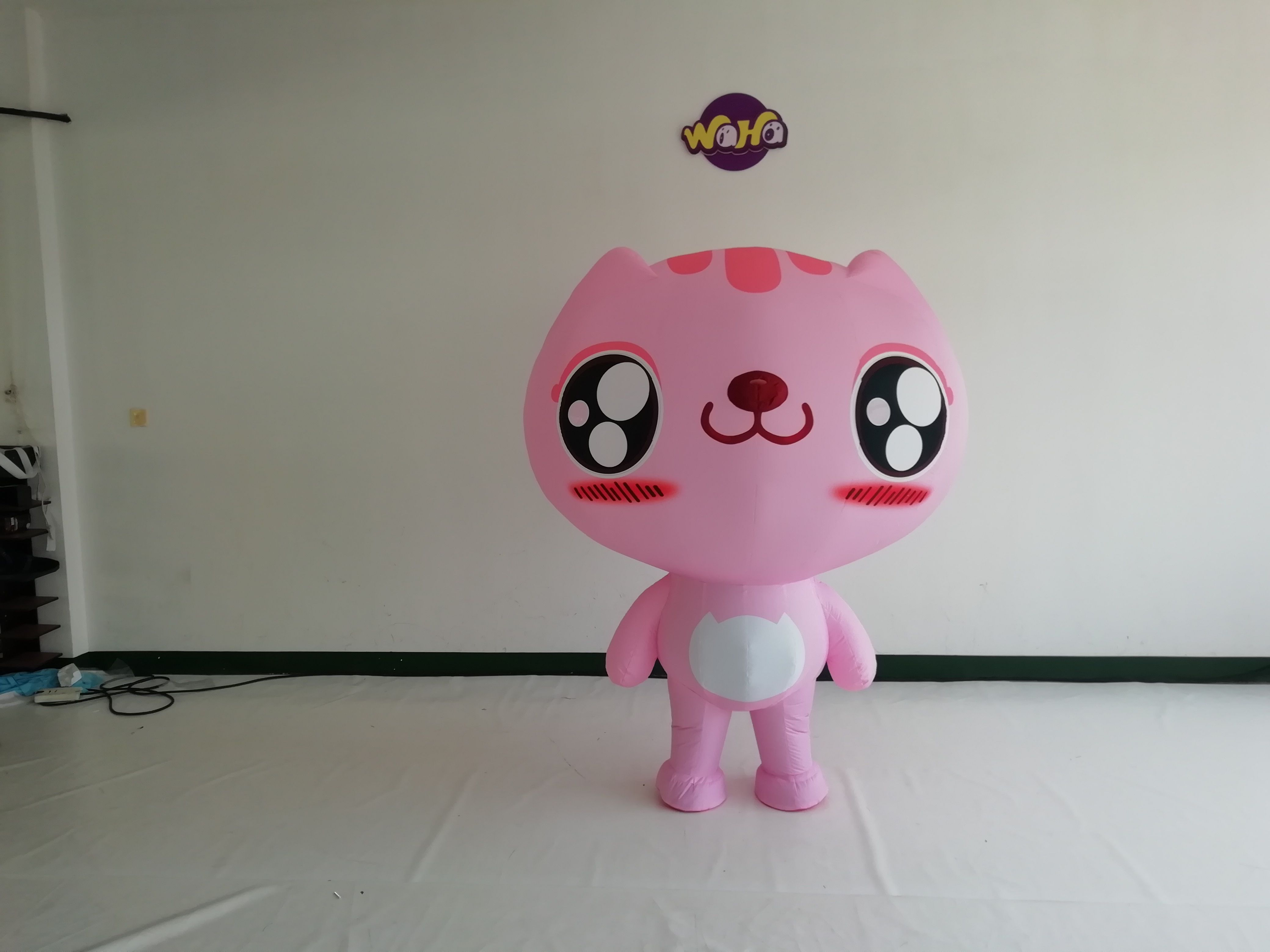 Cat Inflatable Costume artistic direction how to decorate