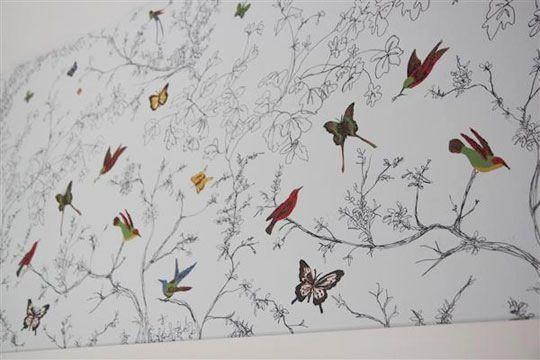 Knock-Off Schumacher Wallpaper with Sharpie Pens — Shannon Berrey Design