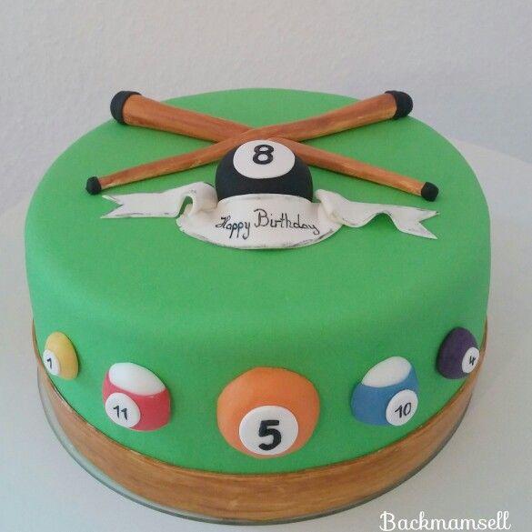 Billiard Torte Tort Biliard Pinterest Cake Pool Table Cake