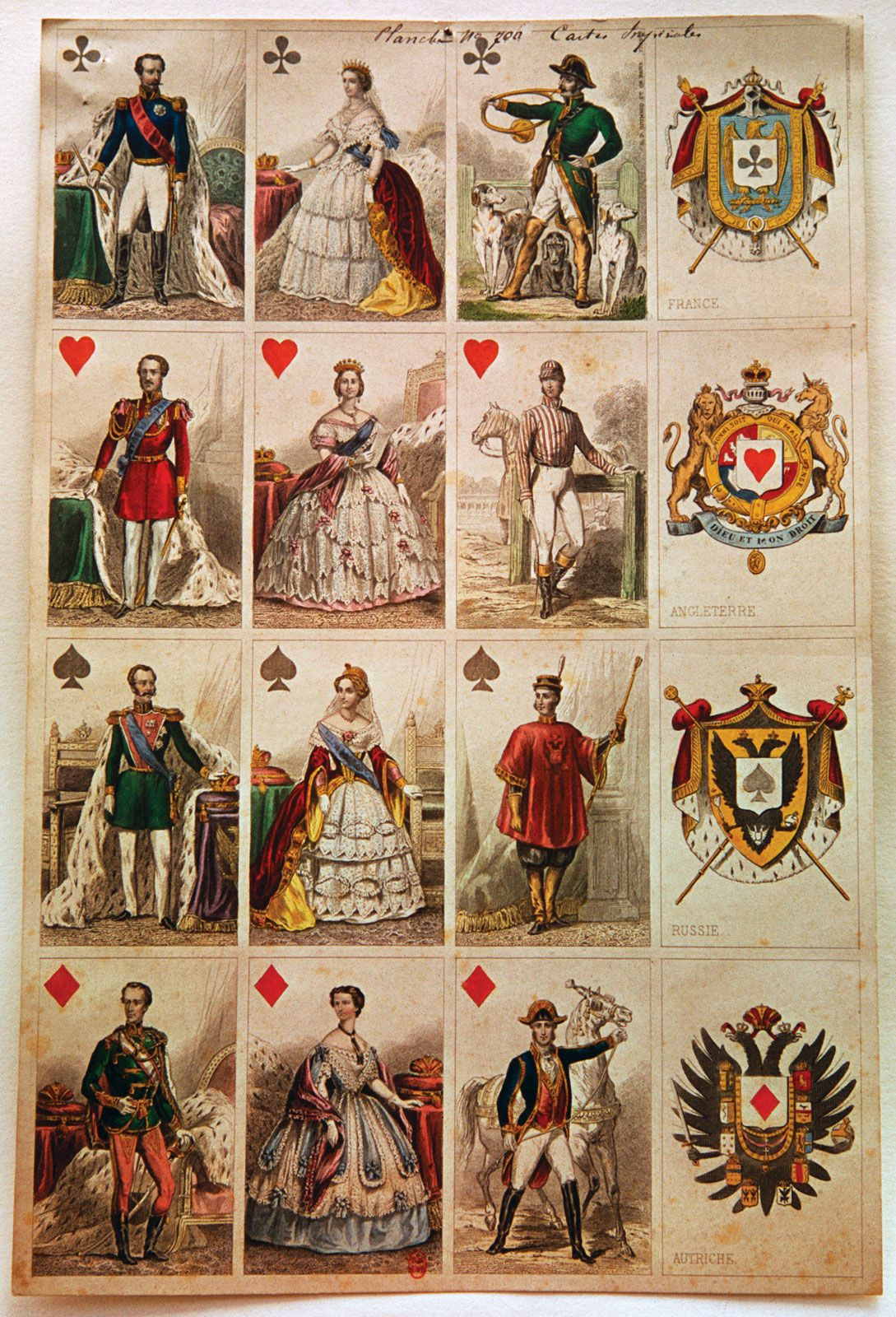 Eighteenth century french playing cards 1eyejack for Decorative tarot cards