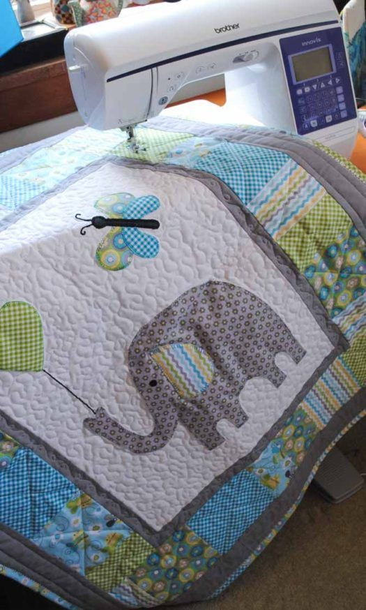 It S Written In The Binding Bind A Baby Quilt With Baby S