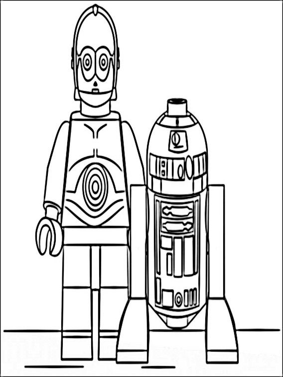Lego Star Wars Coloring Pages 10 | Coloring pages for kids | Pinterest