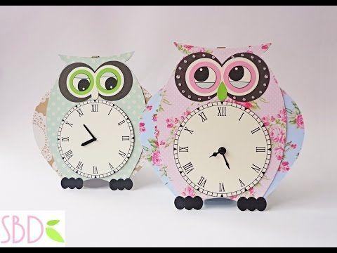 Tutorial orologio da muro gufo diy owl wall clock for Orologio da muro farfalle