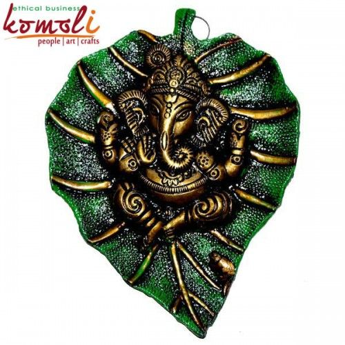 Lord Ganesh On A Leaf Indian Wedding Gifts And Favors Available In Different Colors