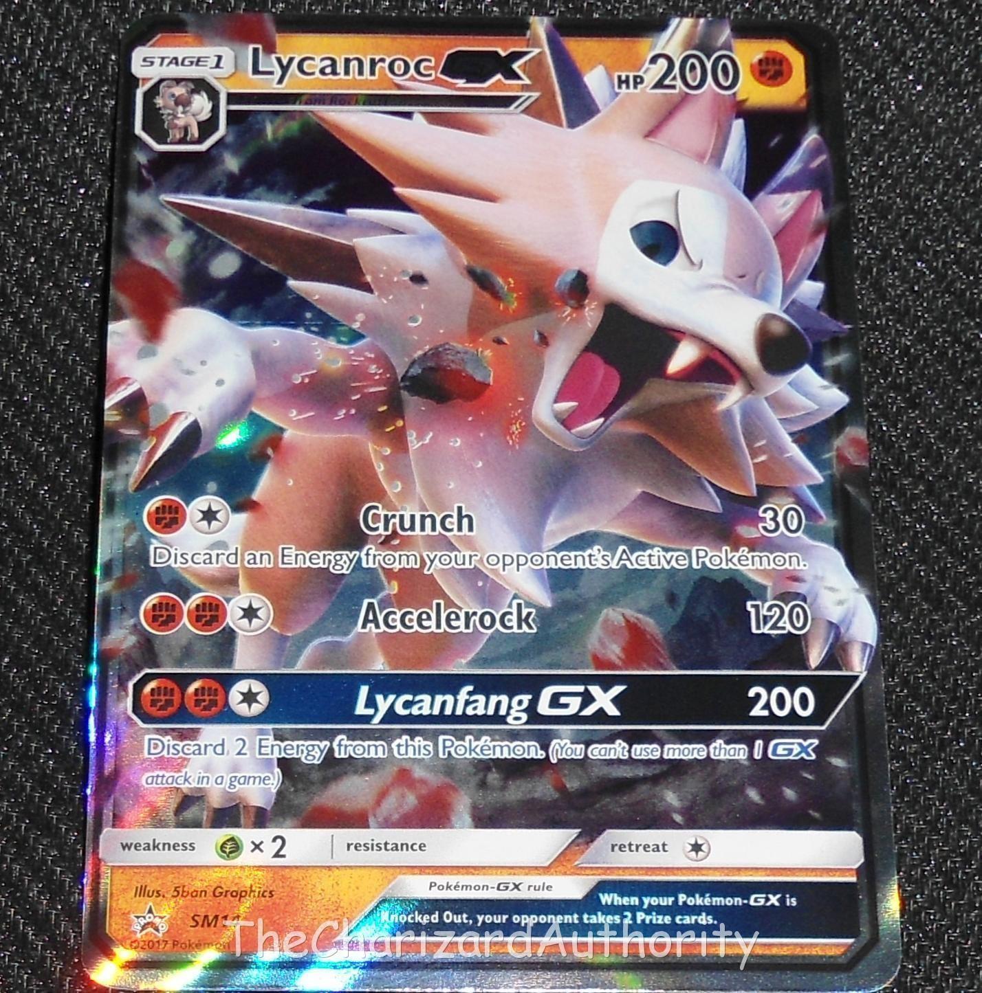 lycanroc gx sm14 sun moon black star promo holo pokemon card