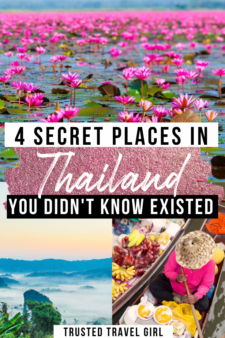 4 Secret Places in Thailand you didn't know Existed. How to see Thailand off the beaten path. You need to put these 4 places on your Thailand itinerary.   |Thailand off the beaten path | Secret places in Thailand | Where to go in Thailand | What to do in Thailand | Thailand Itinerary | Thailand travel guide | #thailand #asia