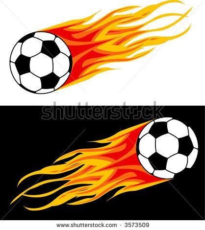 Soccer Ball In Flame Soccer Soccer Banner Soccer Injuries