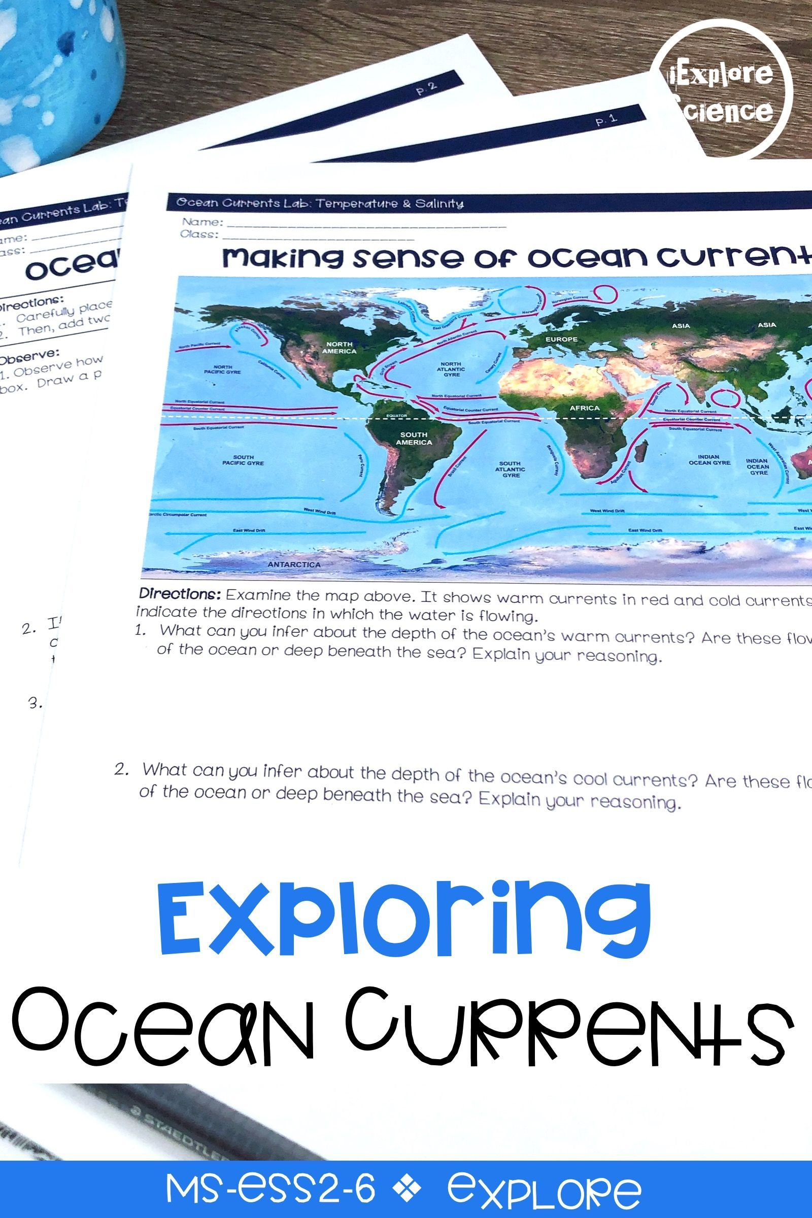 12++ Oceans impact on climate activity worksheet Info