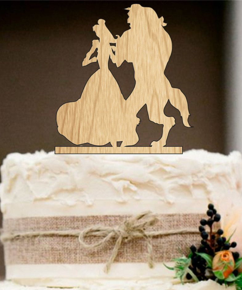 Beauty and the Beast wedding cake topper, Disney cake topper ...
