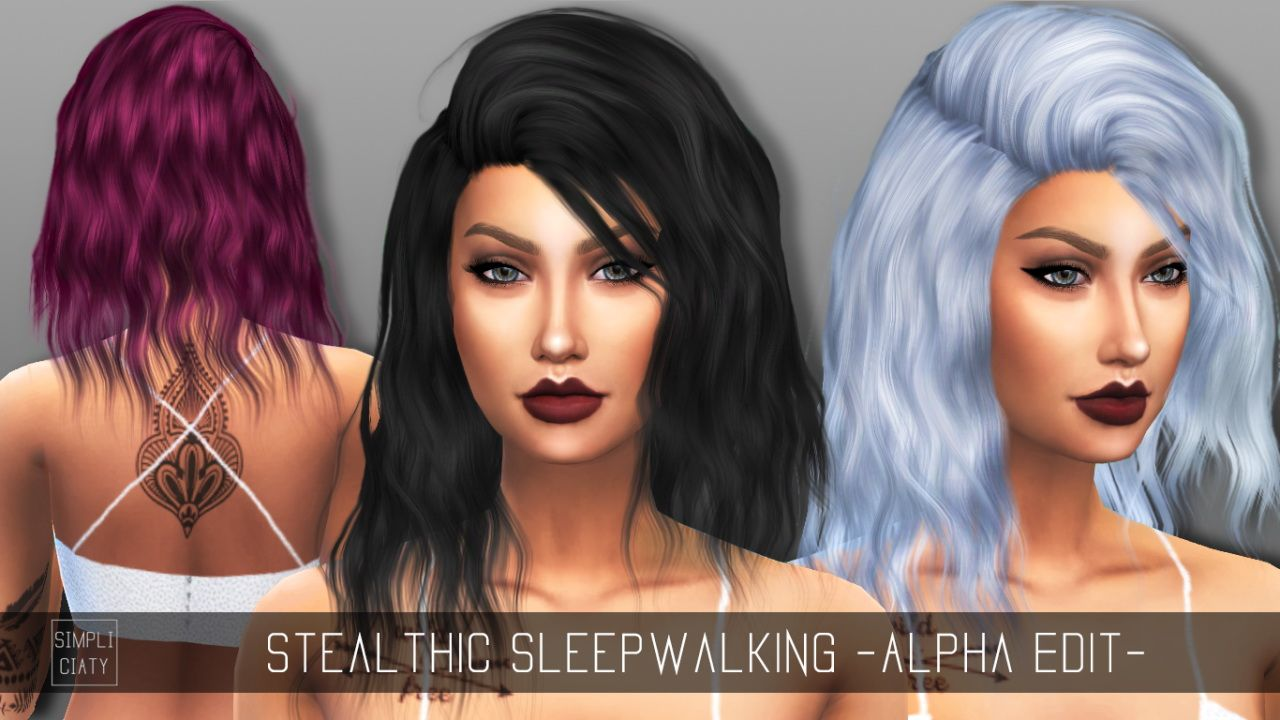 Simpliciaty: Stealthic's Sleepwalking hair retextured  - Sims 4 Hairs - http://sims4hairs.com/simpliciaty-stealthics-sleepwalking-hair-retextured/