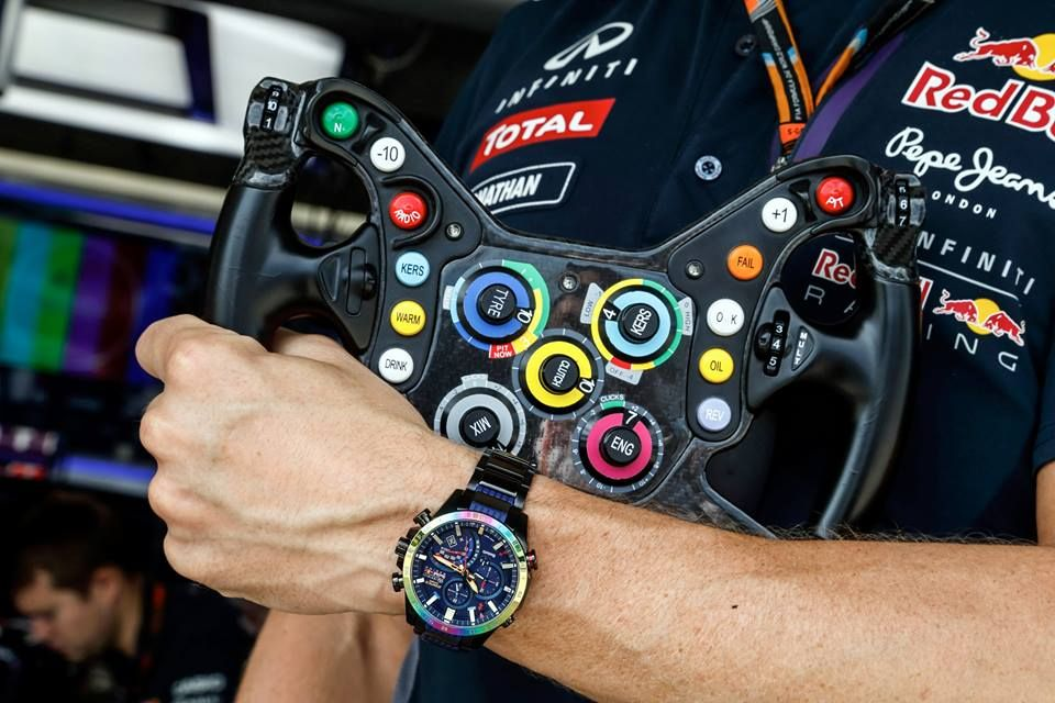 Live Photos  Edifice Infiniti Red Bull Racing EQB-500RBB  c034022e6e