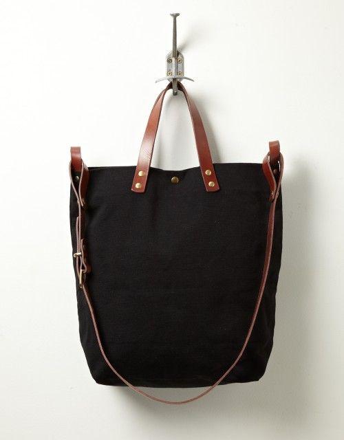 Steve Mono Tote Bag (black/ brandy)