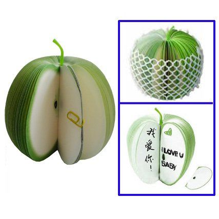 Apple Shaped Memo Paper Note Pad