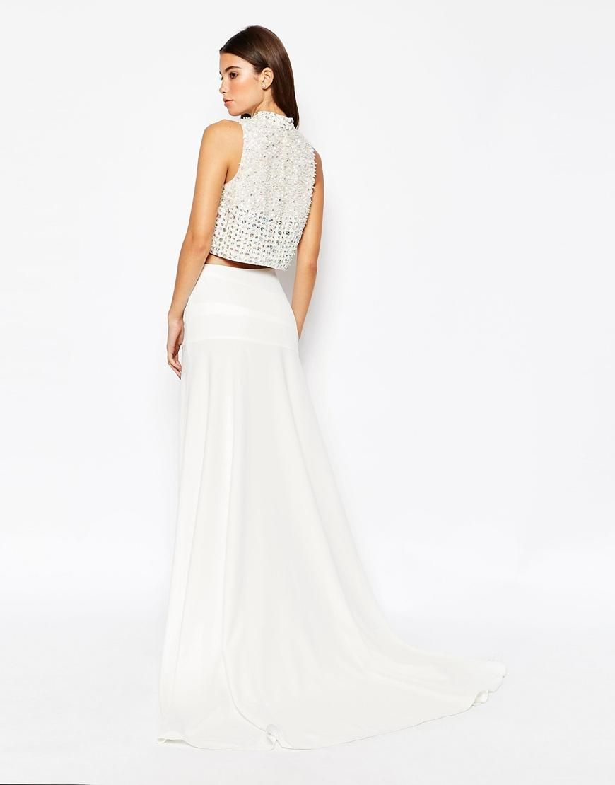ASOS Bridal Maxi Skirt with Puddle Train at asos.com