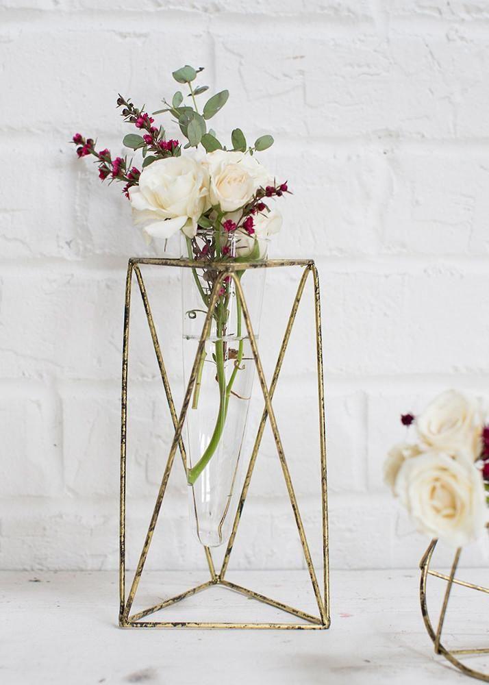 Metal Vector Geometric Flower Vase 85 Diy Gifts Pinterest