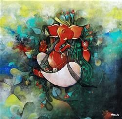 Lord Ganesha Multi Color Painting Hd Image Lord Ganesha Wallpaper Lord Ganesha Painting Wallpaper Lord Pa Ganesha Painting Art Paintings For Sale Indian Art