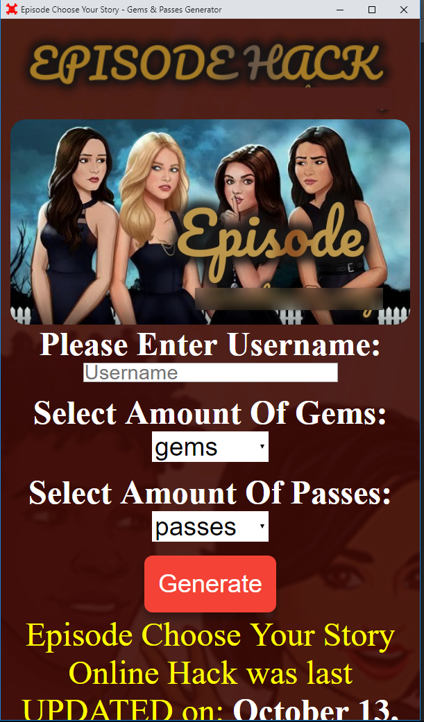 Get Free Passes And Gems On Episode