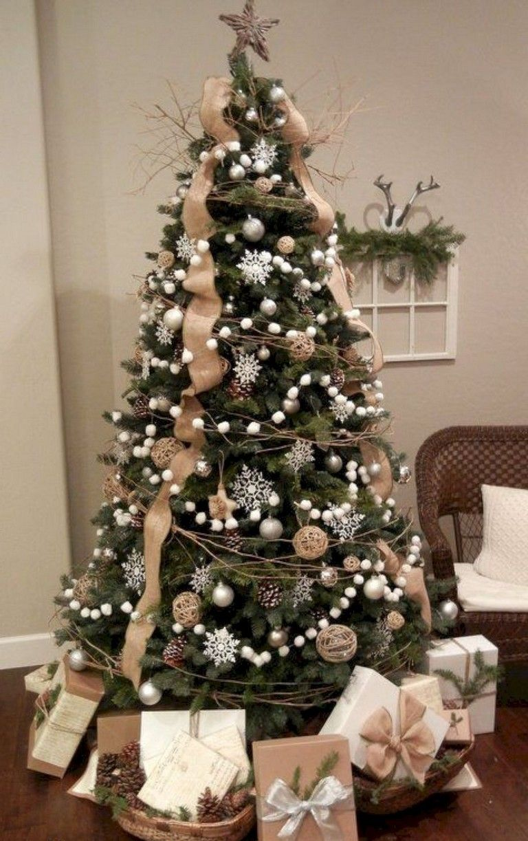 15+ Good Farmhouse Christmas Tree Ideas #christmastree