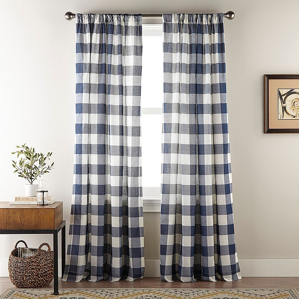 Bee Willow Home Sawyer 84 Inch Rod Pocket Window Curtain Panel