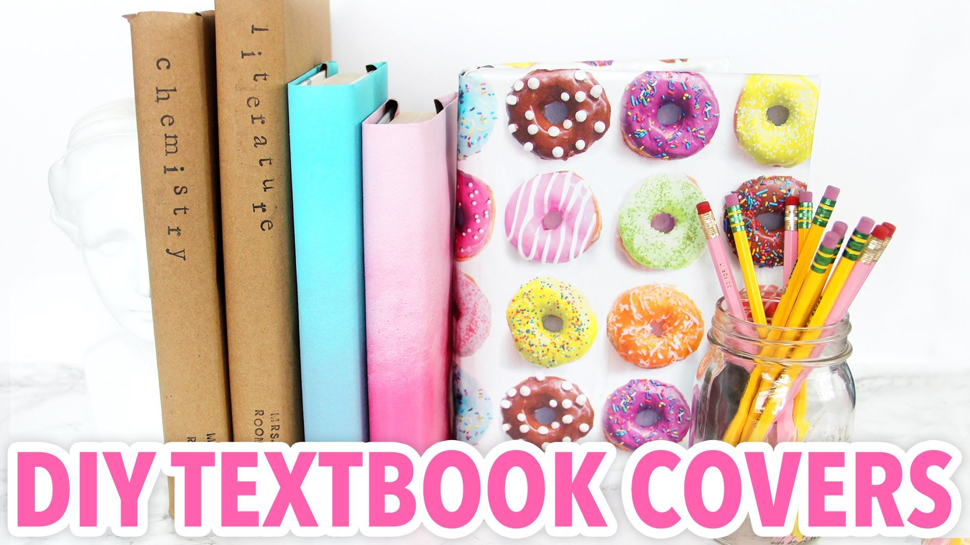 3 DIY Textbook Covers - Back to School 20