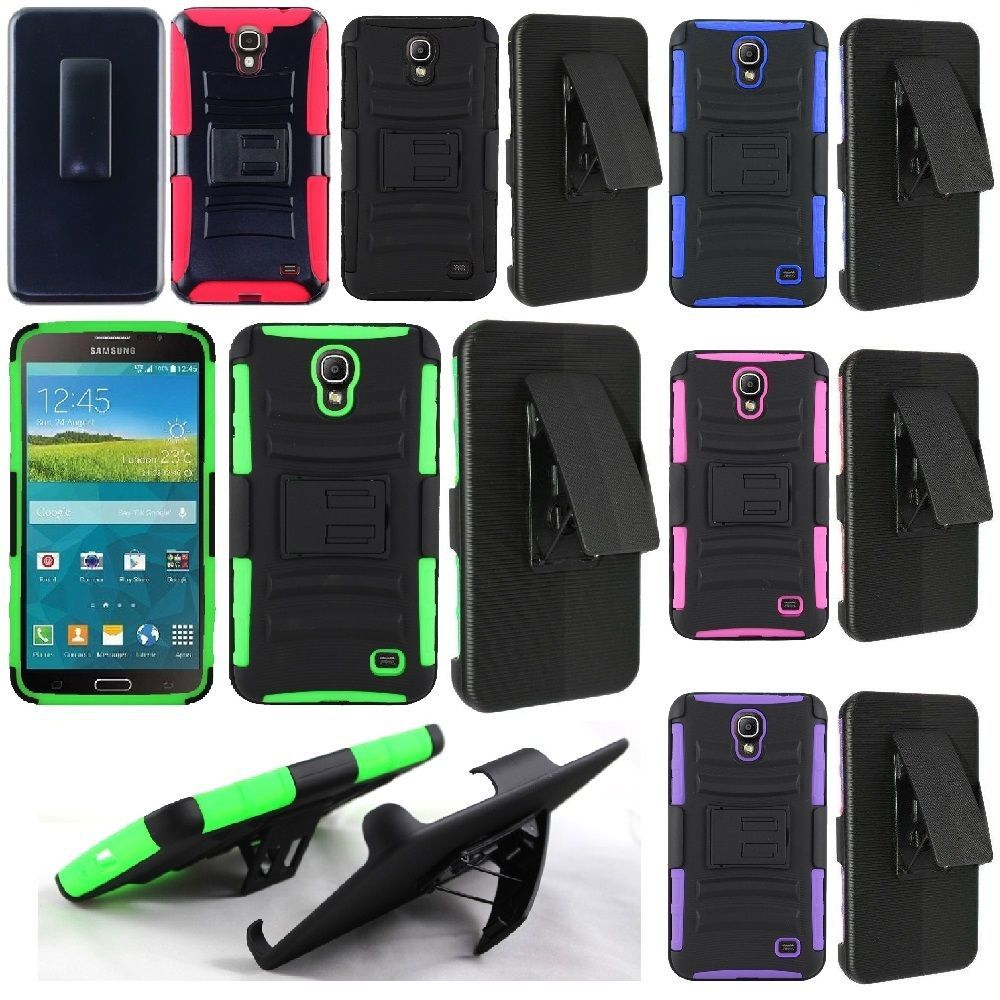 sports shoes e58d9 f8618 For Samsung Galaxy Mega 2 Cell Phone Case Hybrid Hard Cover + Belt ...