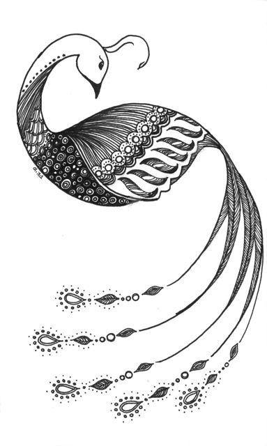 Peacock by PiqueStudios on Etsy, $10.00 | Bird drawings ...
