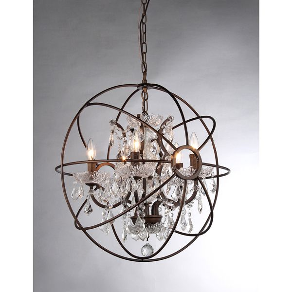 Planetshaker II Antique Bronze and Crystal 6light Chandelier by – Tiffany Chandelier Lighting Fixtures
