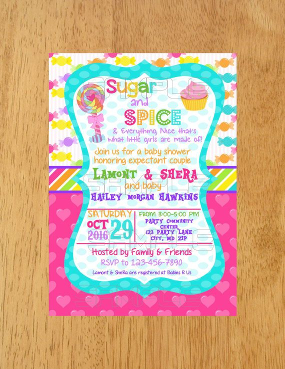 Sugar And E Baby Shower