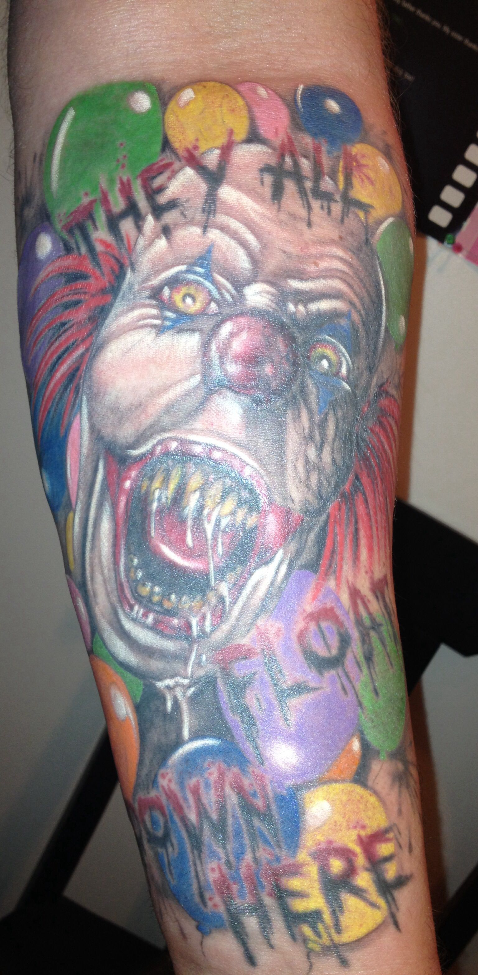 my tattoo of pennywise which is my favorite tattoo it is definitely one of my favorite stephen. Black Bedroom Furniture Sets. Home Design Ideas