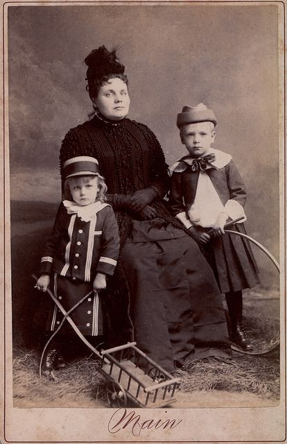 Widow with Children with Toys, Albumen Cabinet Card, circa 1885. © Ann Longmore-Etheridge Collection. | Flickr - Photo Sharing!