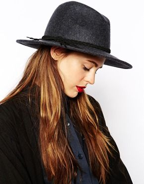 6ca270a092c2a ASOS Gray Marl Braid Felt Fedora Hat