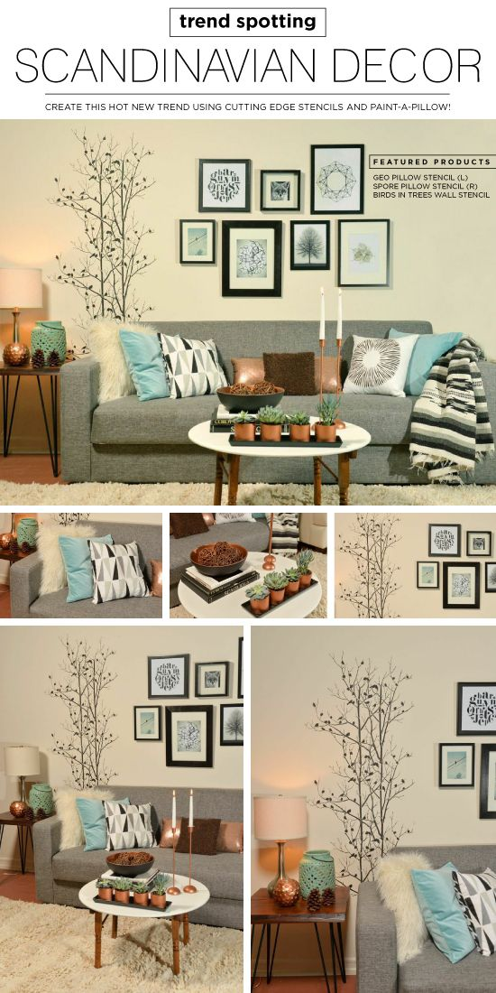 Trend Spotting Scandinavian Decor Tree wall stencils, Wall