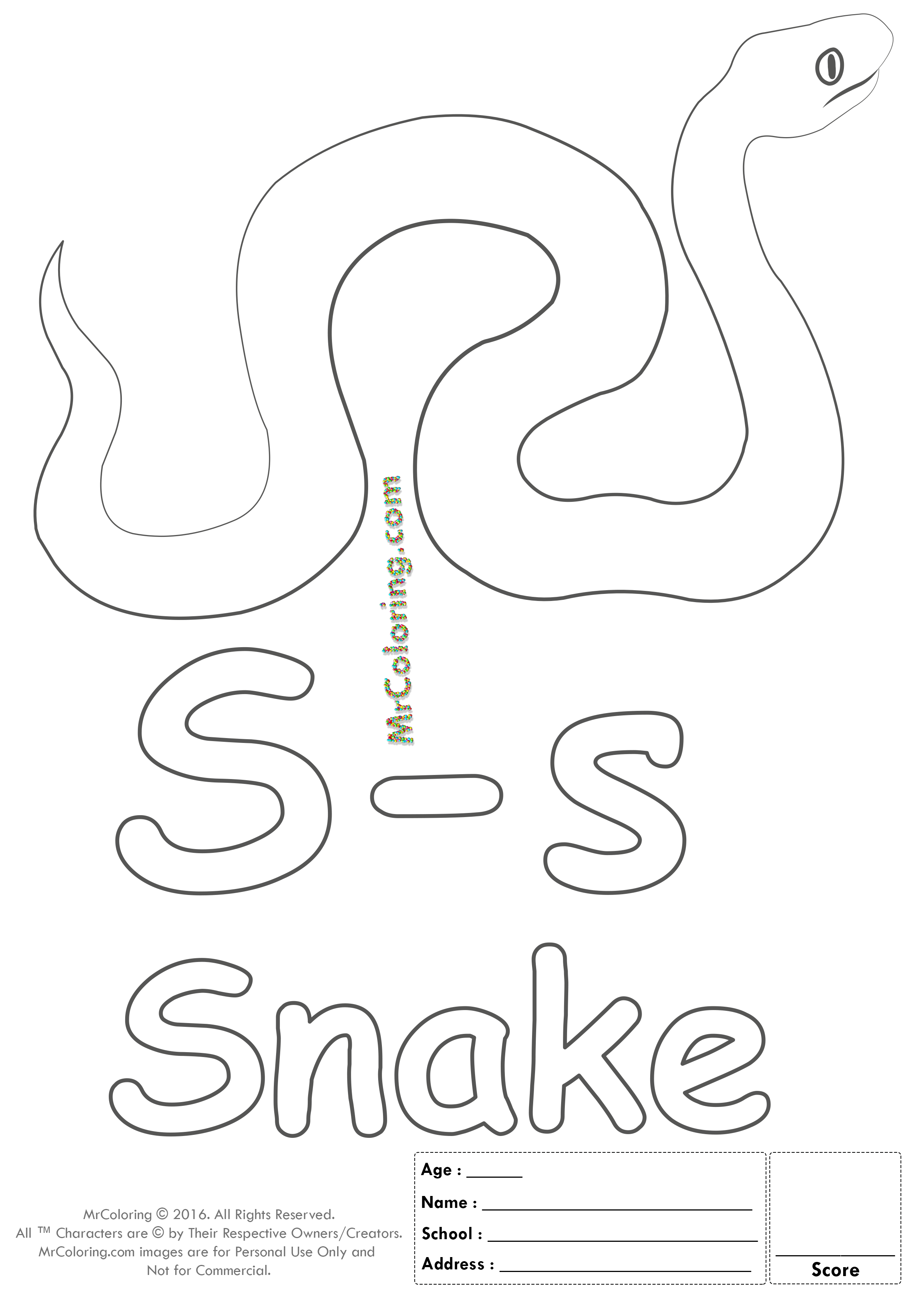 Pin Di Alphabet Letter Coloring Pages