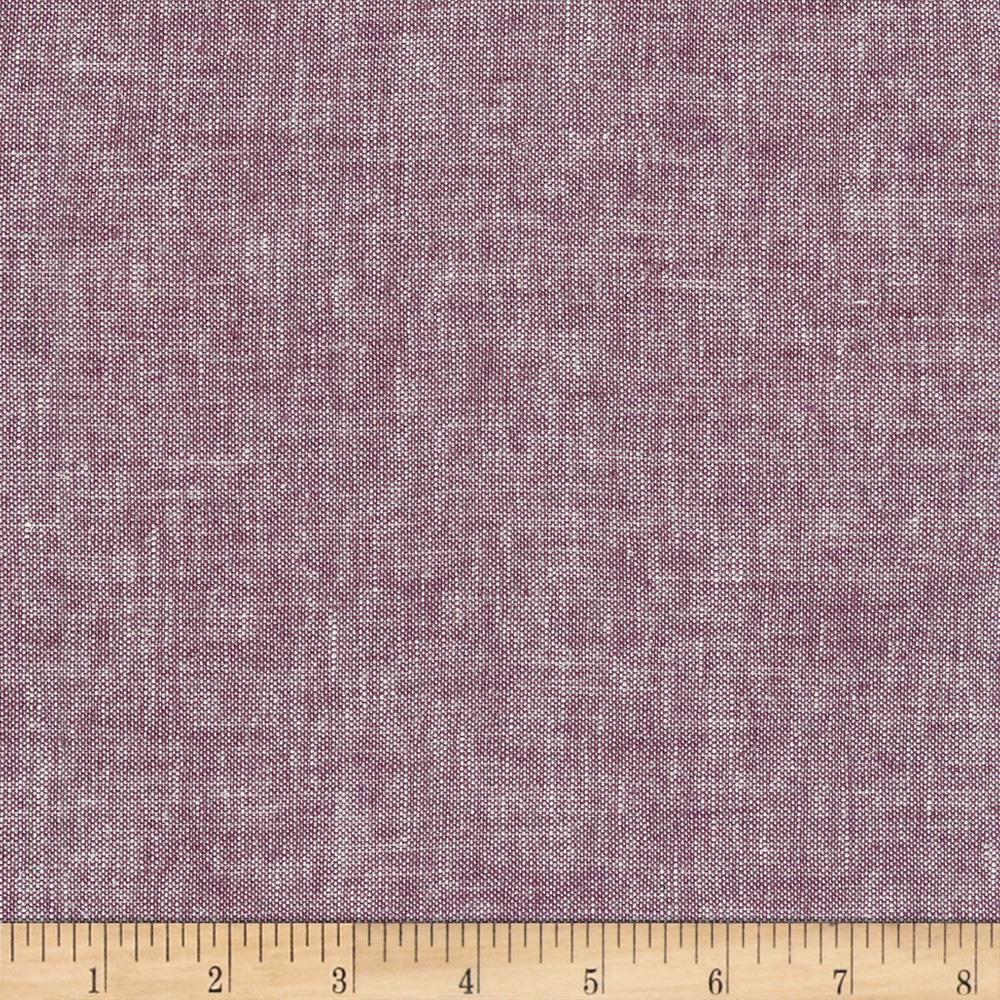 Kaufman Brussels Washer Linen Blend Yarn Dye Heliotrope Linen